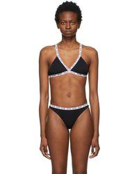 Moschino Soutien-gorge triangle mini elastic noir