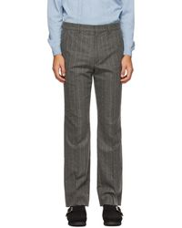 Second/Layer Grey Wool Pico Trousers