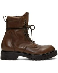 Rick Owens - Brown Low Army Boots - Lyst