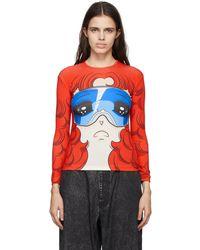 Pushbutton T-shirt graphique Goggles exclusif à SSENSE - Rouge