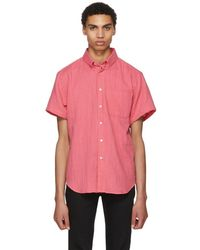 Naked & Famous - Pink Double Weave Gauze Shirt - Lyst