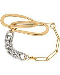 Bless Bracelet doré et argenté à chaîne - Métallisé