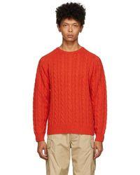 Beams Plus レッド 5g セーター