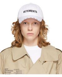 Vetements ホワイト ロゴ キャップ