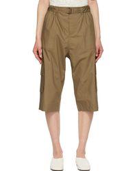 Julia Jentzsch Khaki Zack Long Shorts - Natural