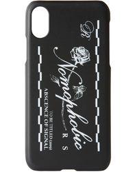 Raf Simons ブラック & ホワイト ロゴ Iphone X ケース - マルチカラー