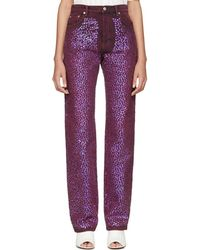 Acne Studios - Pink Sequinned Tisi Jeans - Lyst