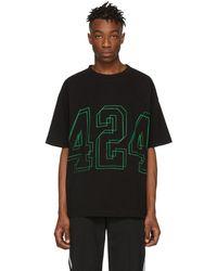 424 ブラック ロゴ T シャツ