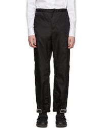 Prada Black Nylon Gabardine Pants