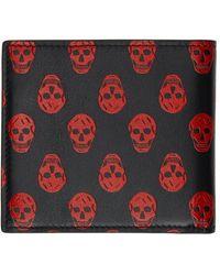 Alexander McQueen レッド & ブラック Skull ウォレット