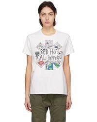 R13 Rhcp コレクション オフホワイト Doodle Boy T シャツ