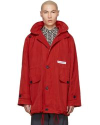 Martine Rose - Red Sports Parka - Lyst