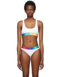 Calvin Klein - ホワイト & マルチカラー Pride ブラレット - Lyst