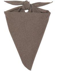 Extreme Cashmere ブラウン カシミア Triangular Witch スカーフ
