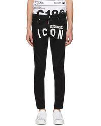DSquared² Black Overdye Dan Jeans