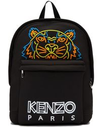 KENZO - Black Large Neoprene Tiger Backpack - Lyst