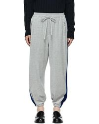 3.1 Phillip Lim - Grey And Blue Baggy Joggers - Lyst
