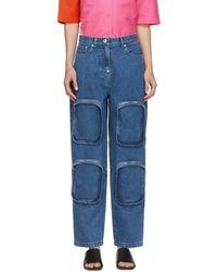 Pushbutton 4 Pocket Jeans - Blue