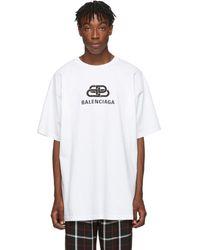 Balenciaga ホワイト オーバーサイズ Bb T シャツ