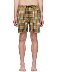 Burberry - Multicolour Check Swim Shorts - Lyst