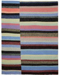 The Elder Statesman Couverture en cachemire rayee multicolore Super Soft