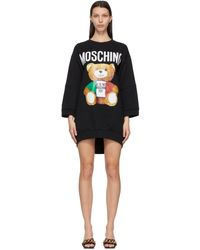 Moschino - ブラック Italian Teddy Bear ドレス - Lyst