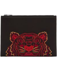 KENZO | Black Neoprene Chinese New Year Tiger Pouch | Lyst
