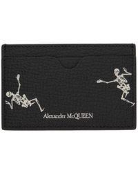 Alexander McQueen Black And Off-white Dancing Skeleton Card Holder