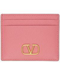 Valentino Garavani Porte-cartes VLogo rose