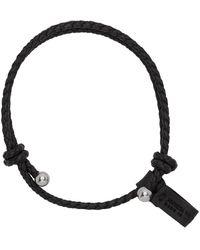 Bottega Veneta Black Nappa Braided Bracelet
