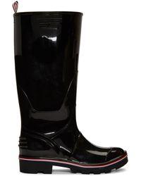 Thom Browne Rwb-detail Wellington Boots - Black