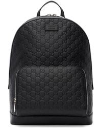 Gucci Black ' Signature' Backpack