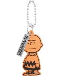 Marc Jacobs Peanuts エディション オレンジ The Charlie Brown チャーム - メタリック