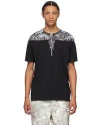 Marcelo Burlon T-shirt noir et gris Camou Wings