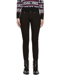 Versus - Black Lion Skinny Jeans - Lyst