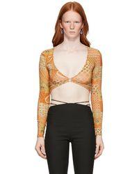 Paloma Wool & Tan Lenny Long Sleeve T-shirt - Orange