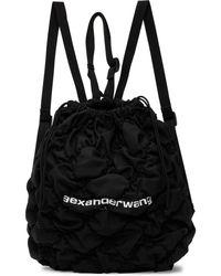 Alexander Wang Ruched Rebound Backpack - Black