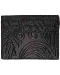 Etro ブラック ペイズリー カード ケース