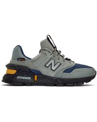 New Balance Grey And Navy 997 Sport Trainers - Gray