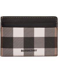 Burberry - ブラック & ホワイト Eキャンバス チェック Kier カード ケース - Lyst