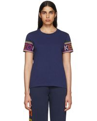 KENZO - Navy Limited Edition Multicolour Logo T-shirt - Lyst