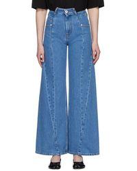 Maison Margiela Panelled Wide Leg Jeans - Blue