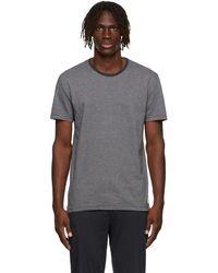 Paul Smith - Grey & Navy Organic Cotton Stripe T-shirt - Lyst