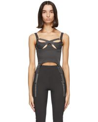 CHARLOTTE KNOWLES Bustier gris Tactical