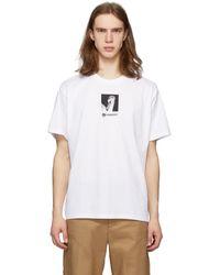 Burberry - ホワイト スワン ロゴ オーバーサイズ T シャツ - Lyst
