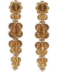 Simone Rocha Orange Cluster Drip Earrings - Multicolor