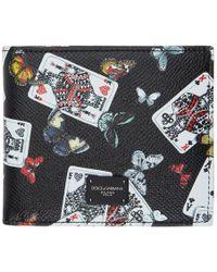 Dolce & Gabbana Portefeuille noir King of Hearts