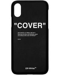 Off-White c/o Virgil Abloh - Ssense 限定 ブラック クォート Iphone 11 Pro ケース - Lyst