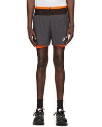 Asics Gray Fujitrail Shorts