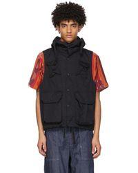 Engineered Garments - ブラック フィールド ベスト - Lyst